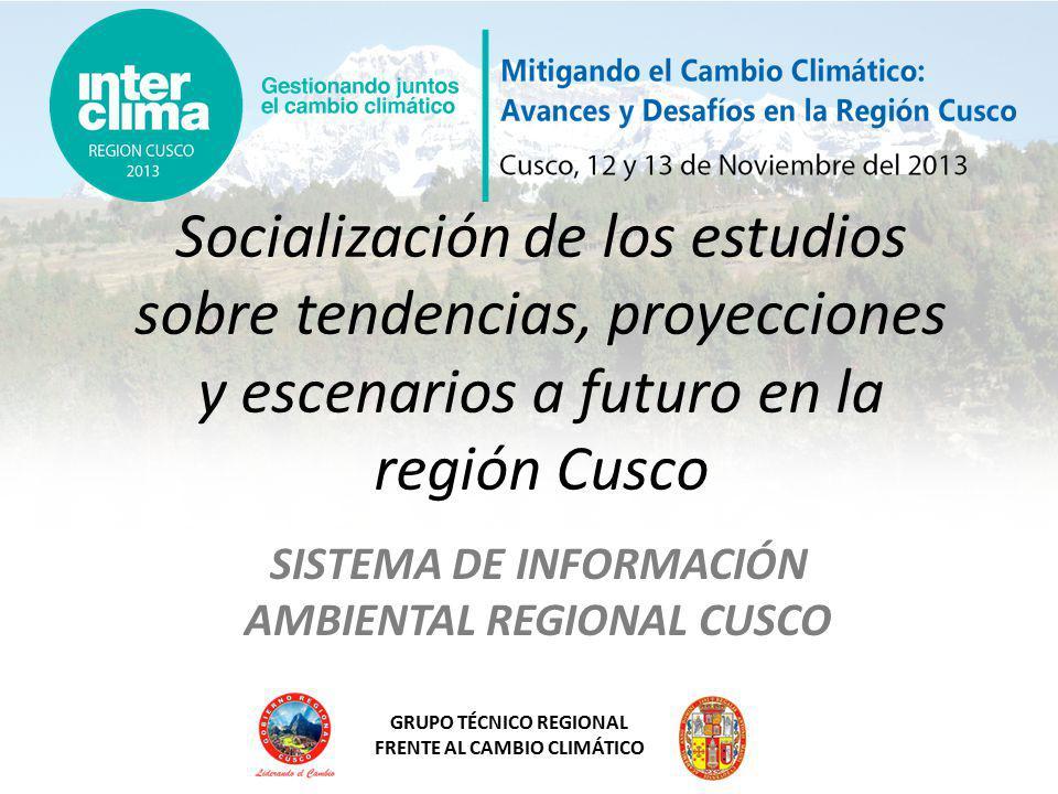 SISTEMA DE INFORMACIÓN AMBIENTAL REGIONAL CUSCO