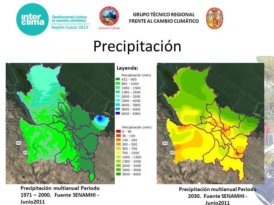 Precipitación multianual Periodo 2030. Fuente SENAMHI - Junio2011