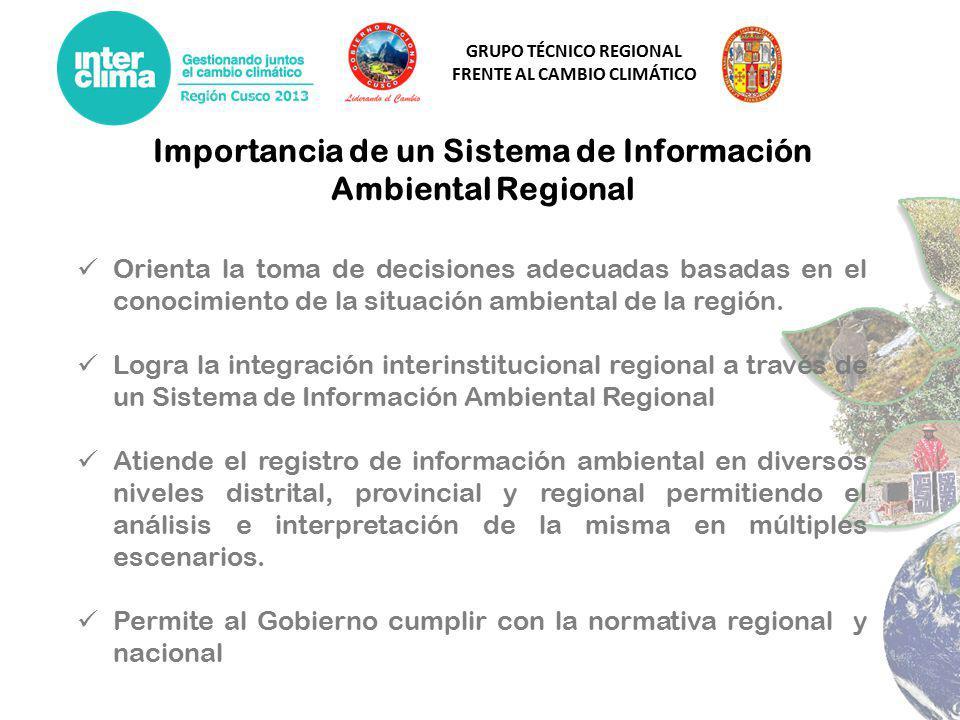 Importancia de un Sistema de Información Ambiental Regional