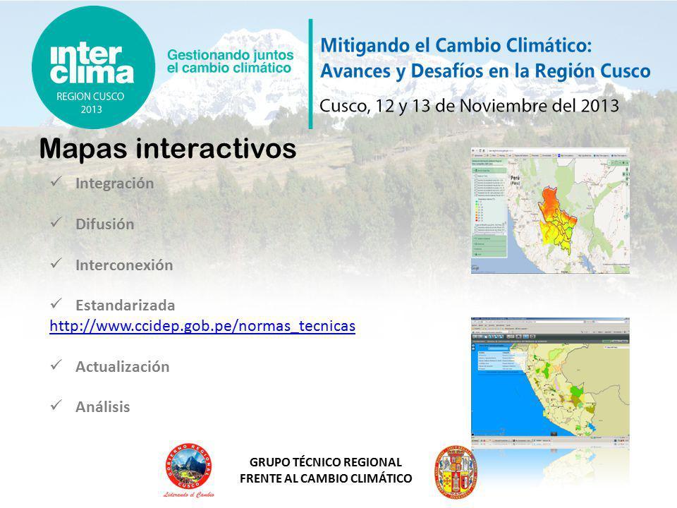 Mapas interactivos Integración Difusión Interconexión Estandarizada