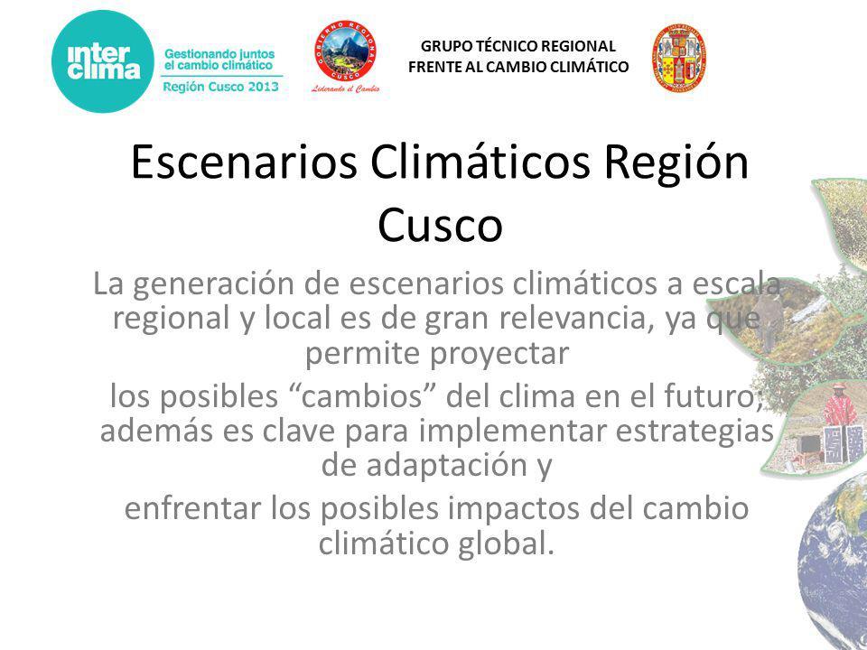Escenarios Climáticos Región Cusco