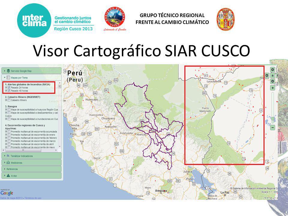 Visor Cartográfico SIAR CUSCO