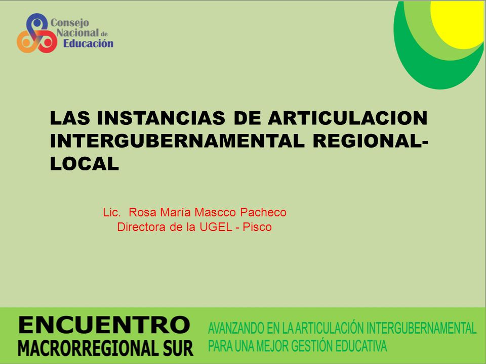 LAS INSTANCIAS DE ARTICULACION INTERGUBERNAMENTAL REGIONAL-LOCAL