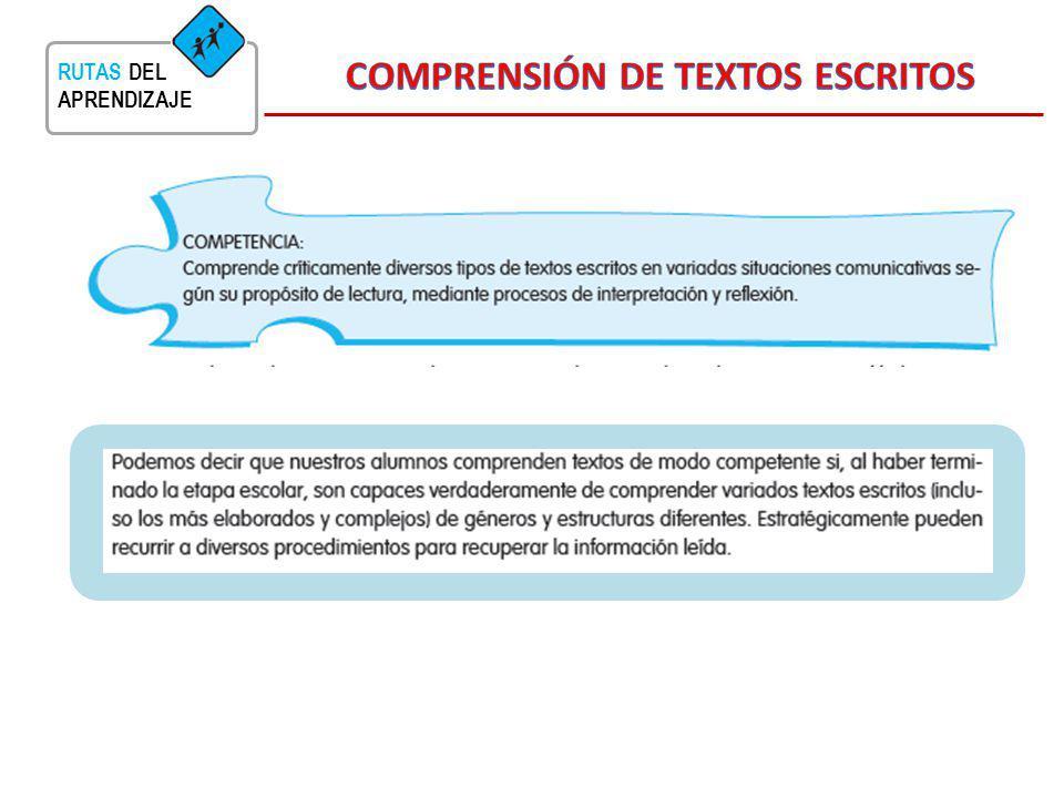 COMPRENSIÓN DE TEXTOS ESCRITOS