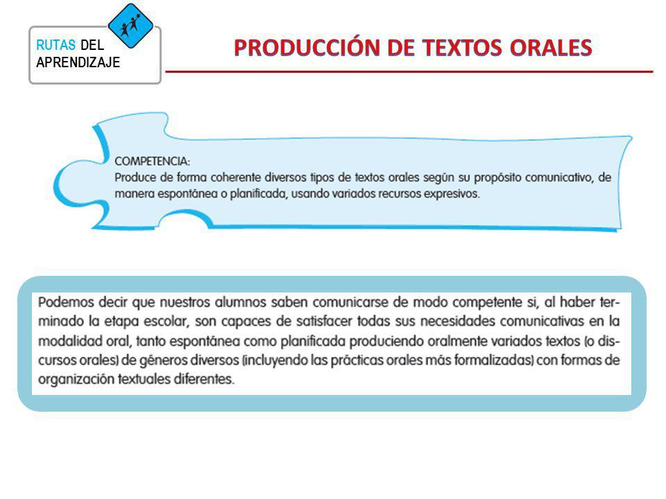 PRODUCCIÓN DE TEXTOS ORALES