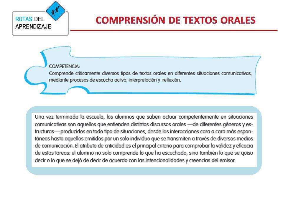 COMPRENSIÓN DE TEXTOS ORALES