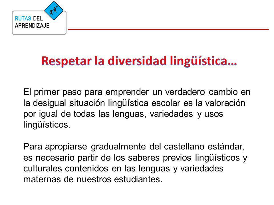 Respetar la diversidad lingüística…