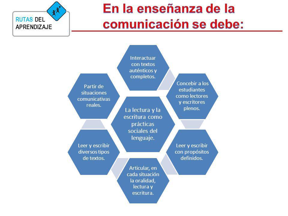 En la enseñanza de la comunicación se debe: