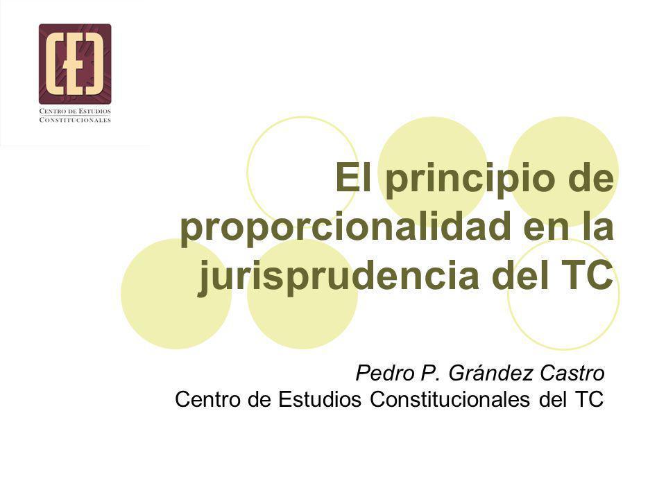El principio de proporcionalidad en la jurisprudencia del TC