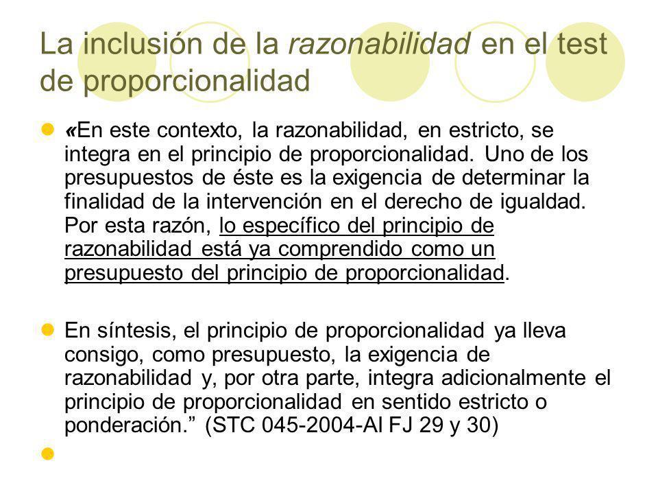 La inclusión de la razonabilidad en el test de proporcionalidad