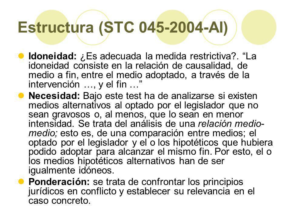 Estructura (STC 045-2004-AI)