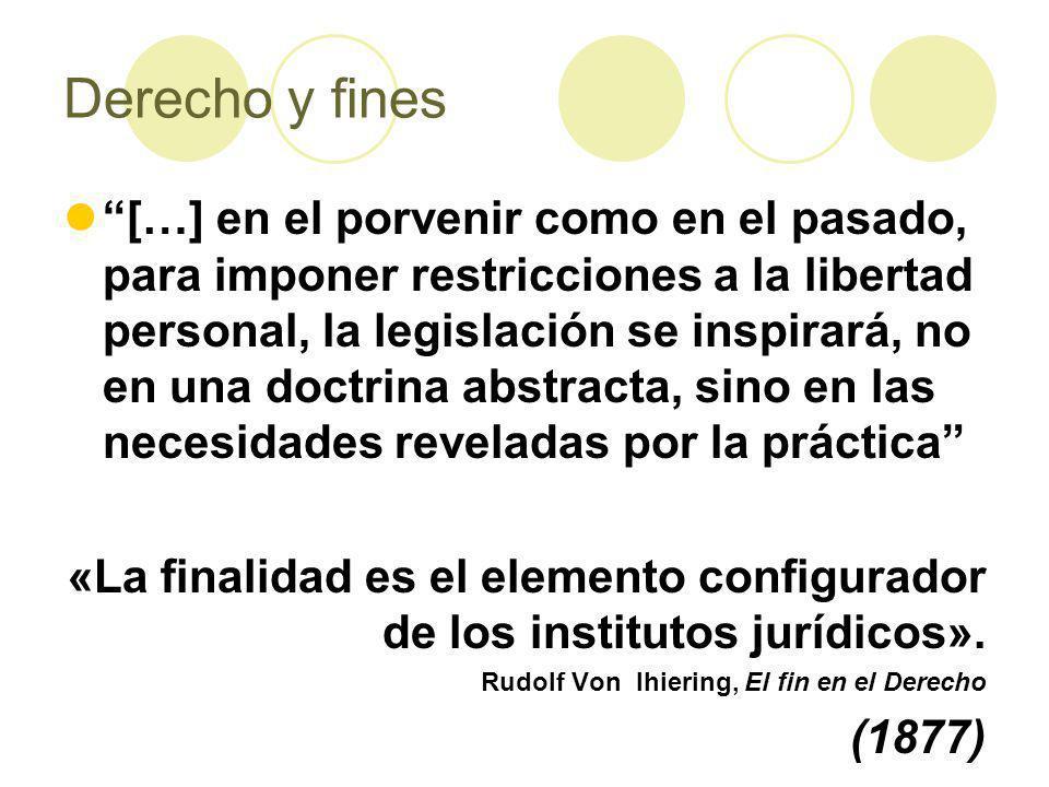 Derecho y fines