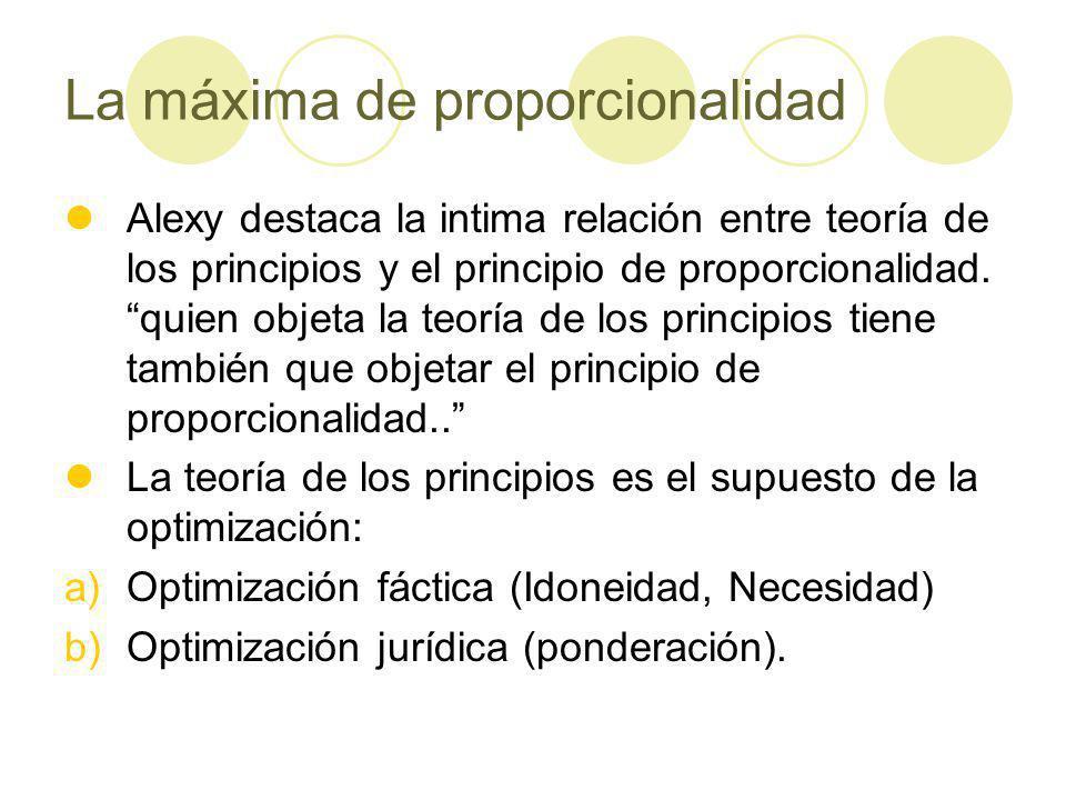 La máxima de proporcionalidad