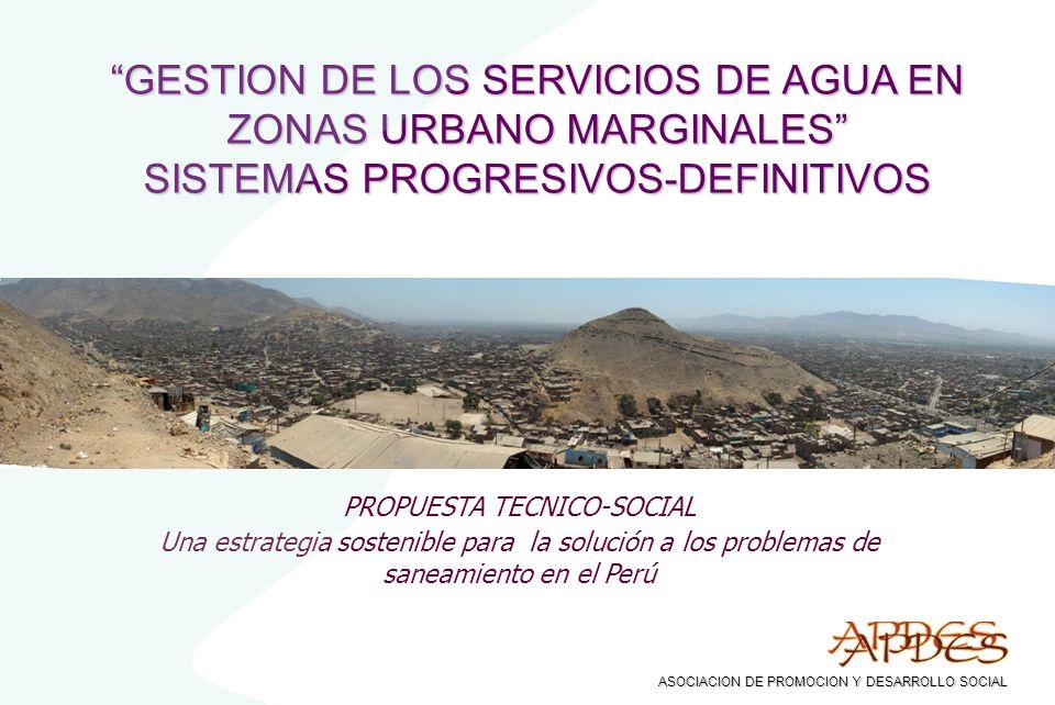 GESTION DE LOS SERVICIOS DE AGUA EN ZONAS URBANO MARGINALES