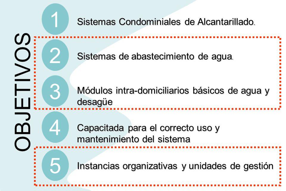 1 2 OBJETIVOS 3 4 5 Sistemas Condominiales de Alcantarillado.