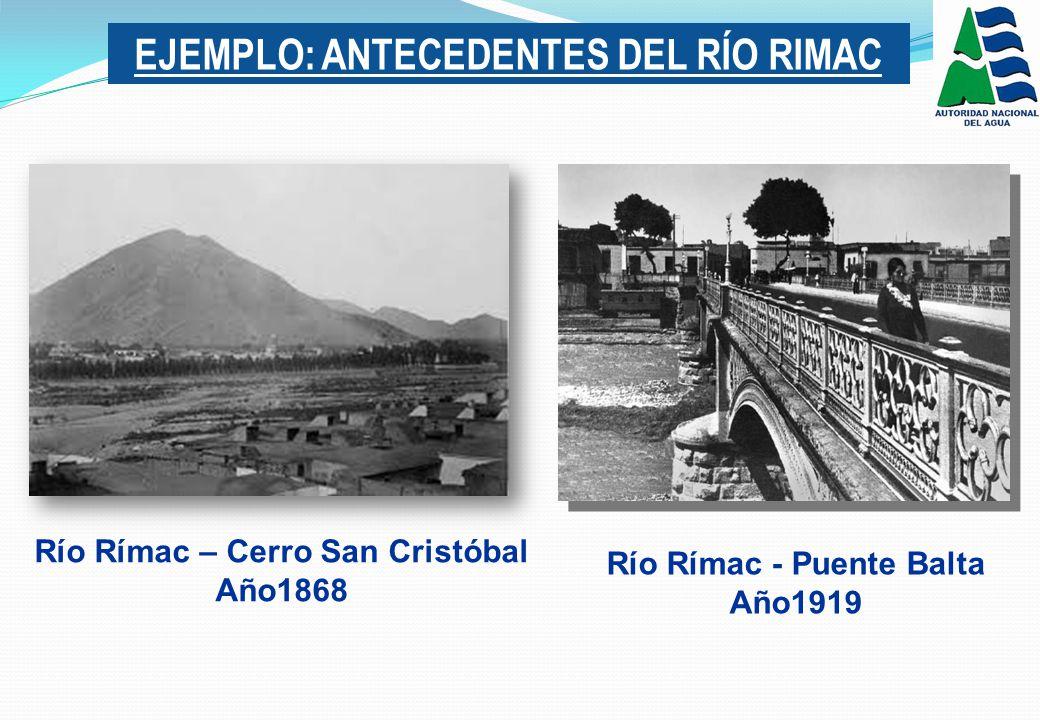 EJEMPLO: ANTECEDENTES DEL RÍO RIMAC