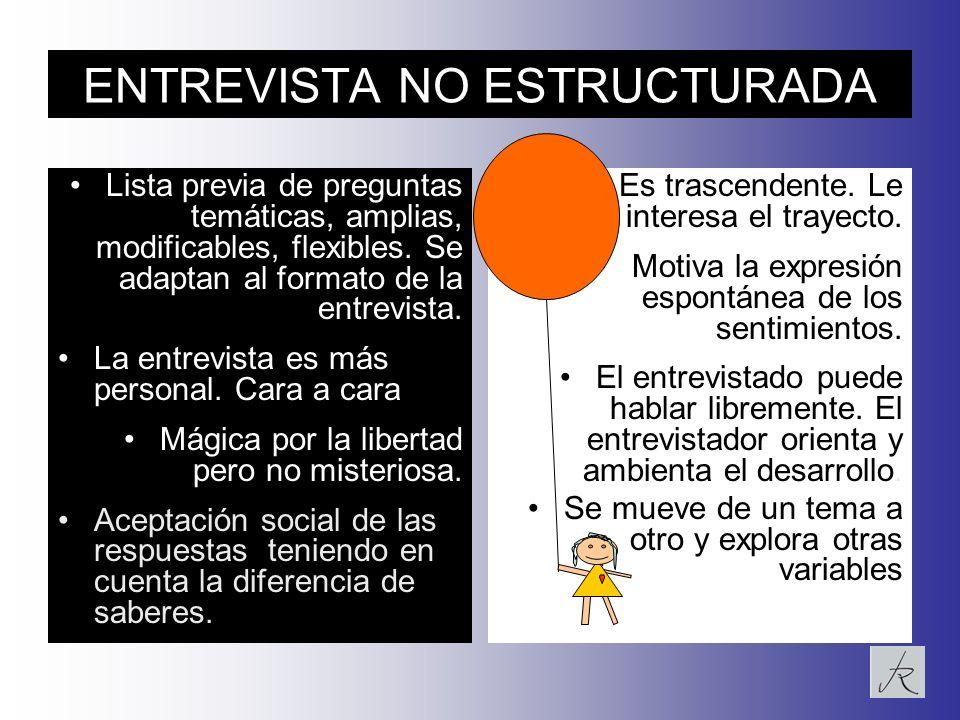 ENTREVISTA NO ESTRUCTURADA