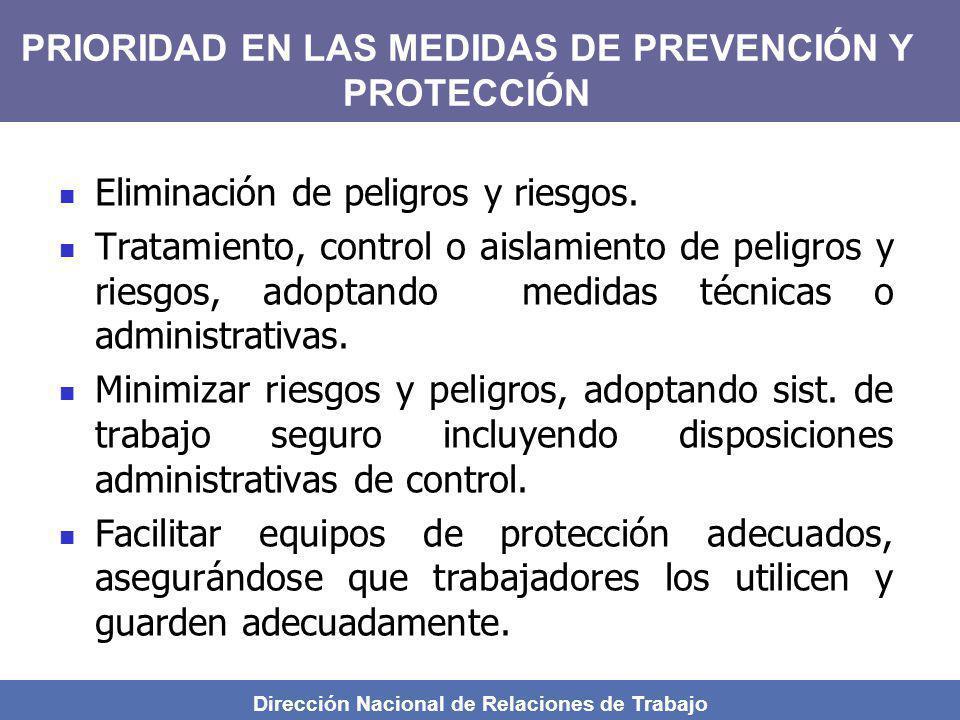 PRIORIDAD EN LAS MEDIDAS DE PREVENCIÓN Y PROTECCIÓN