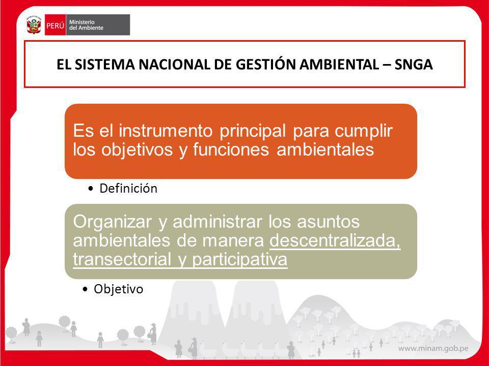 EL SISTEMA NACIONAL DE GESTIÓN AMBIENTAL – SNGA