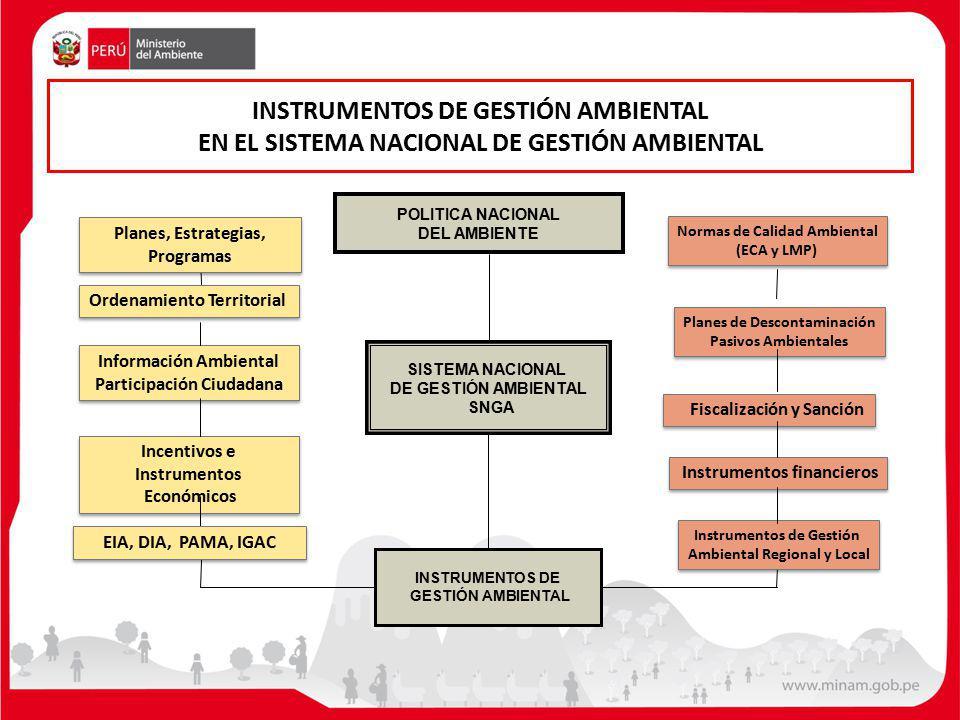 INSTRUMENTOS DE GESTIÓN AMBIENTAL EN EL SISTEMA NACIONAL DE GESTIÓN AMBIENTAL