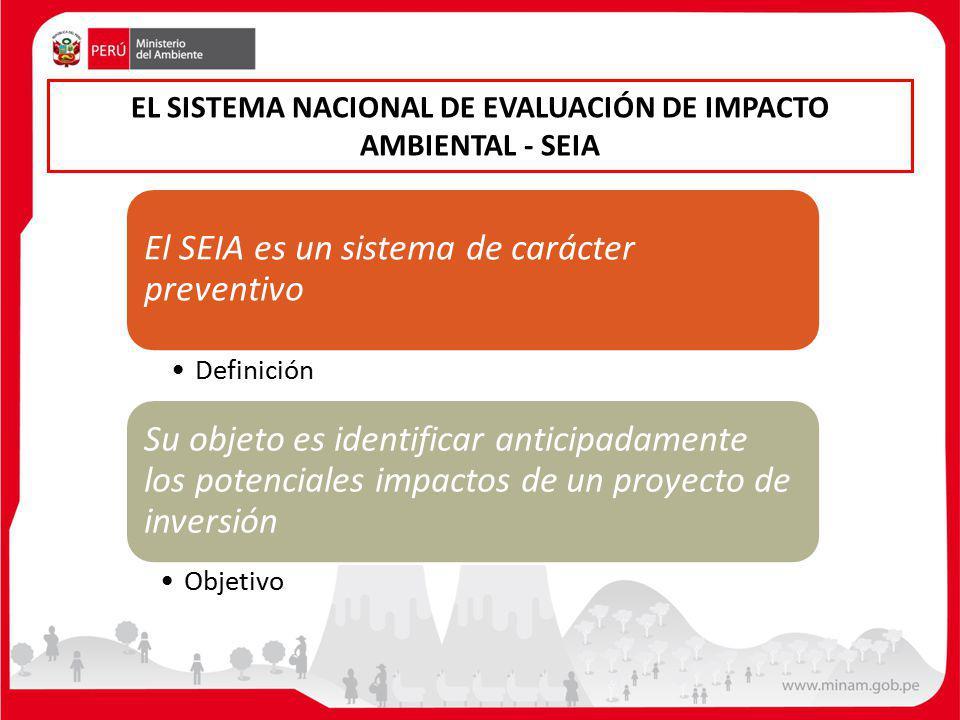 EL SISTEMA NACIONAL DE EVALUACIÓN DE IMPACTO AMBIENTAL - SEIA