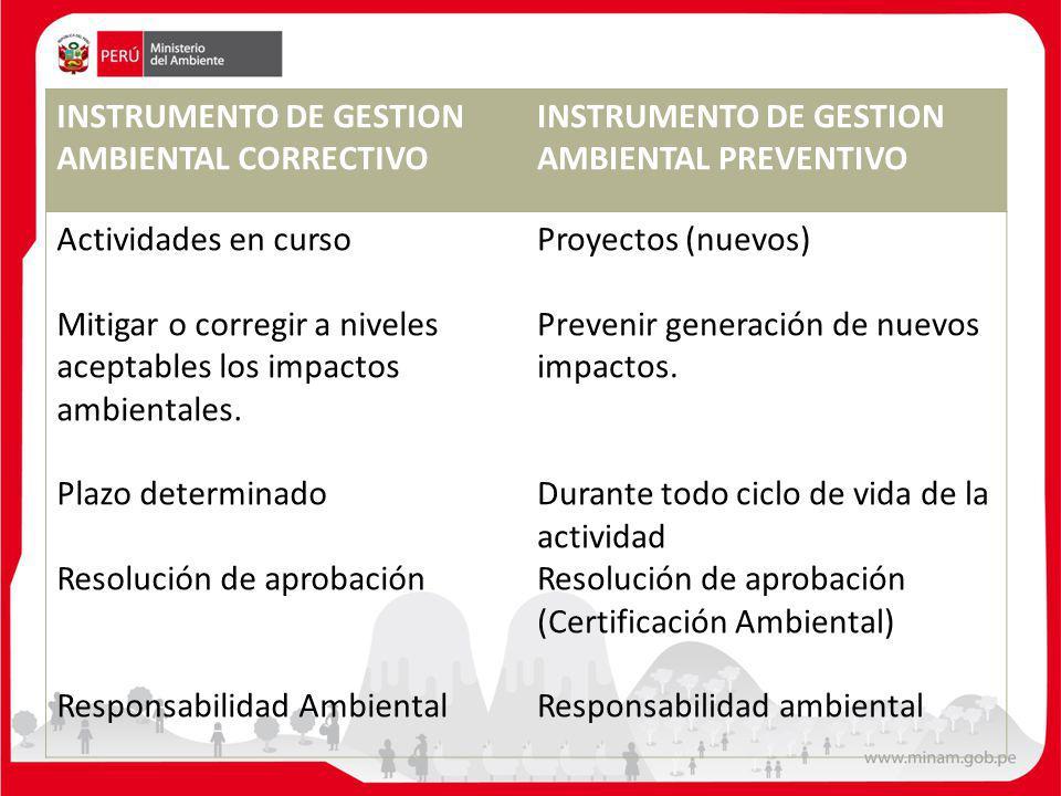 INSTRUMENTO DE GESTION AMBIENTAL CORRECTIVO
