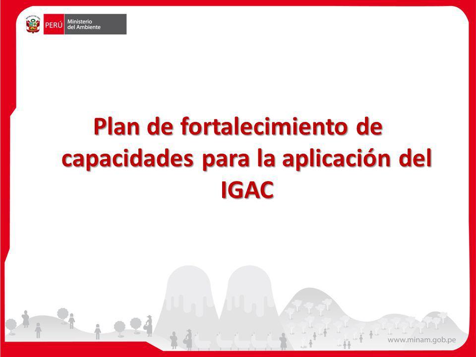 Plan de fortalecimiento de capacidades para la aplicación del IGAC