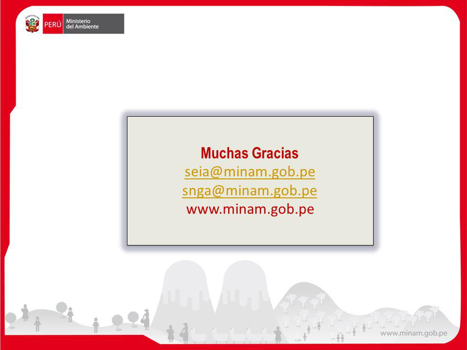 Muchas Gracias seia@minam.gob.pe