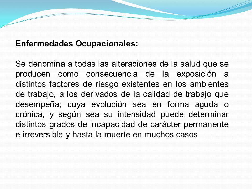 Enfermedades Ocupacionales: