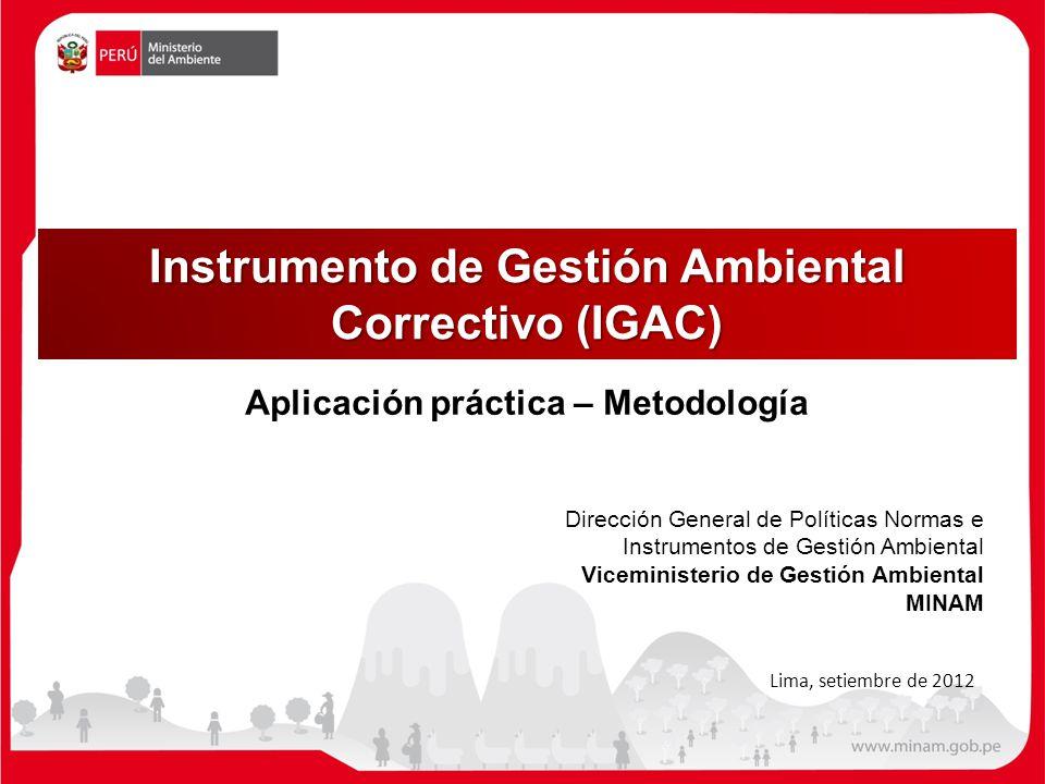 Instrumento de Gestión Ambiental