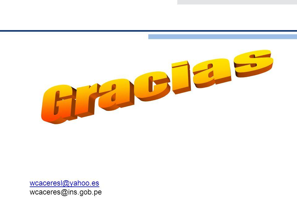 Gracias wcaceresl@yahoo.es wcaceres@ins.gob.pe