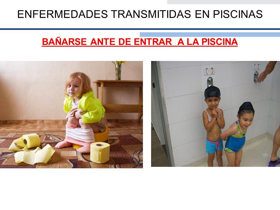 ENFERMEDADES TRANSMITIDAS EN PISCINAS