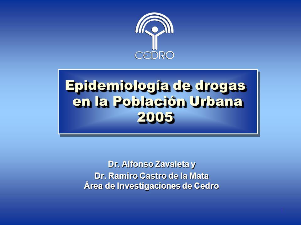 Epidemiología de drogas en la Población Urbana 2005
