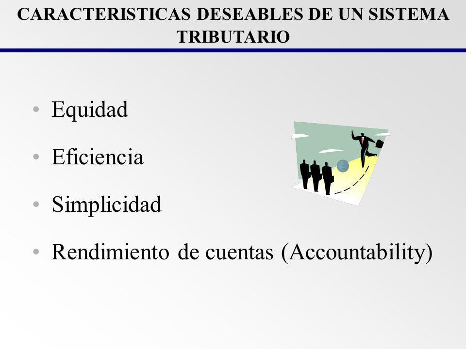 CARACTERISTICAS DESEABLES DE UN SISTEMA TRIBUTARIO
