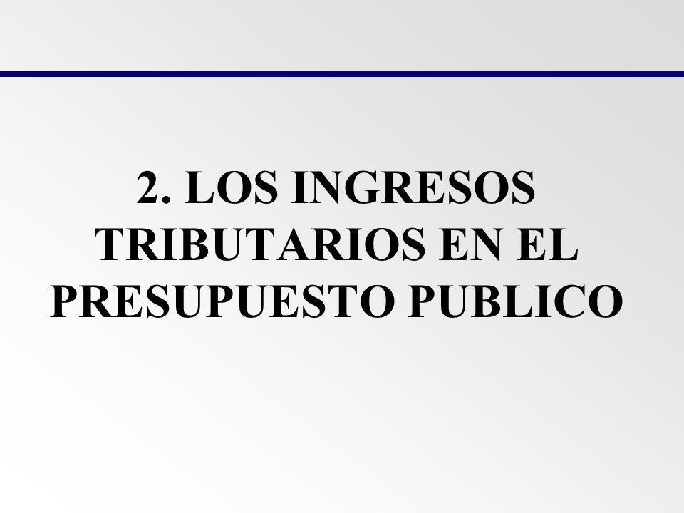 2. LOS INGRESOS TRIBUTARIOS EN EL PRESUPUESTO PUBLICO