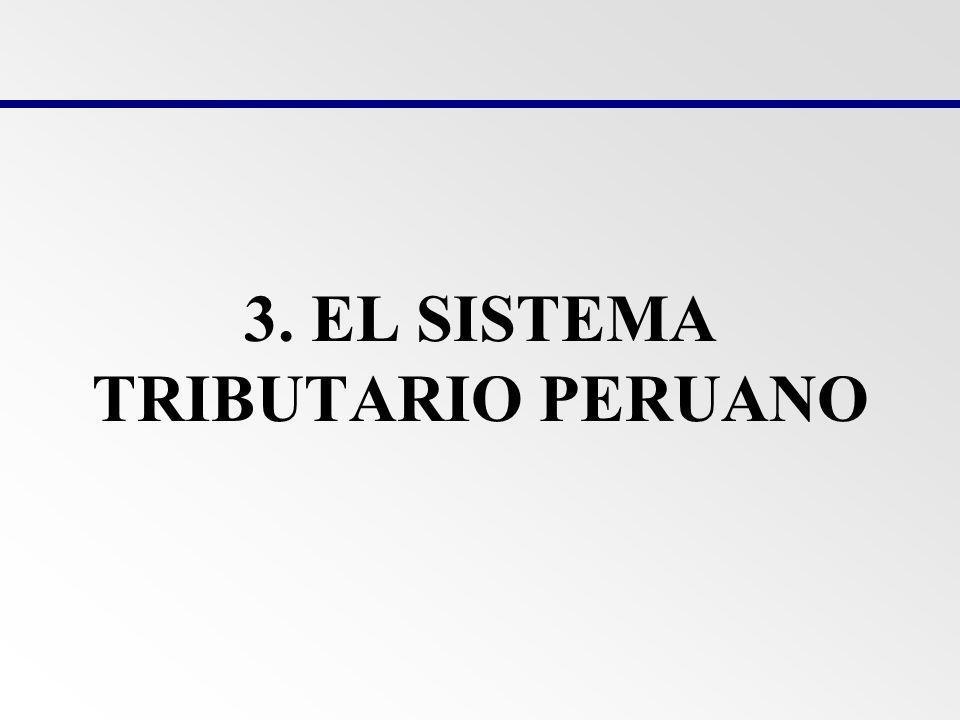 3. EL SISTEMA TRIBUTARIO PERUANO