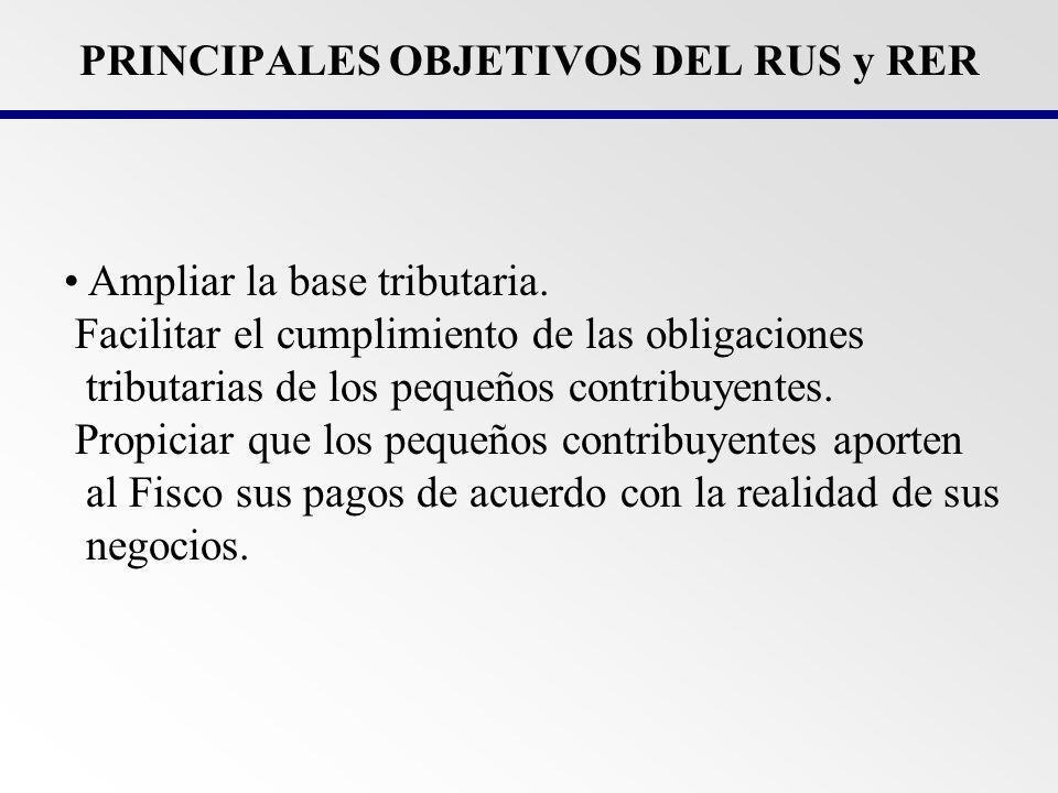 PRINCIPALES OBJETIVOS DEL RUS y RER