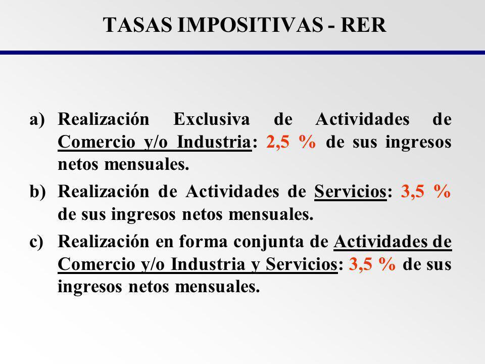 TASAS IMPOSITIVAS - RER