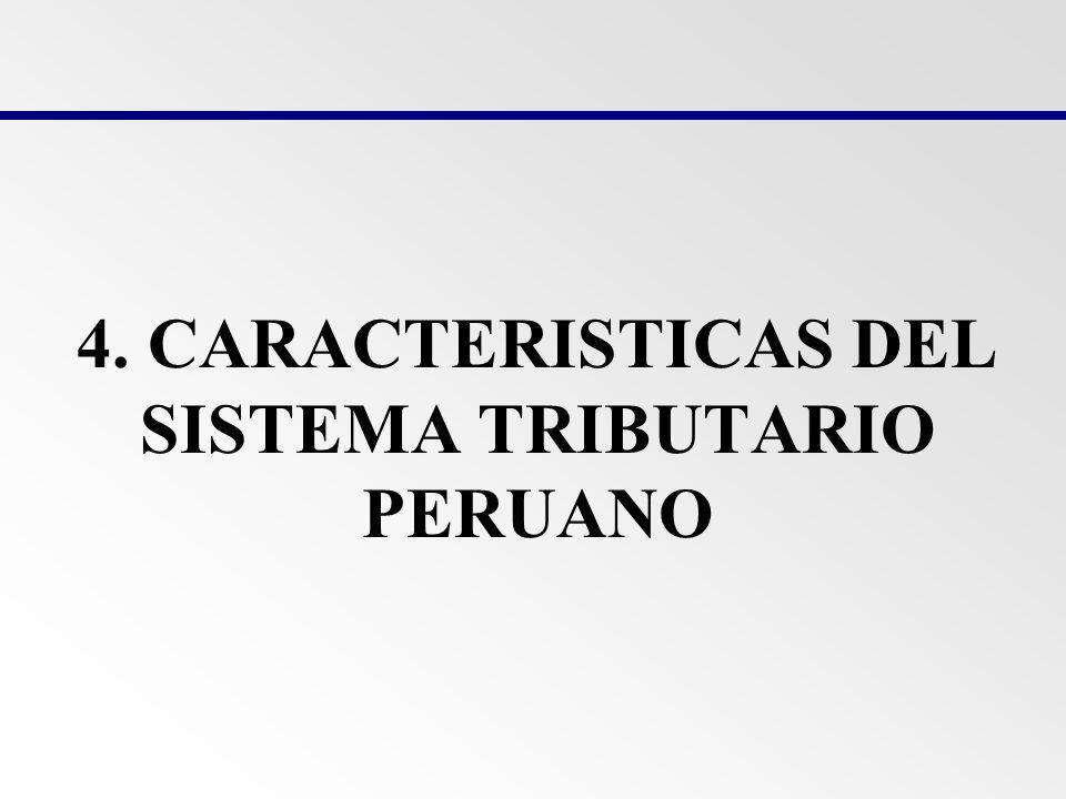 4. CARACTERISTICAS DEL SISTEMA TRIBUTARIO PERUANO
