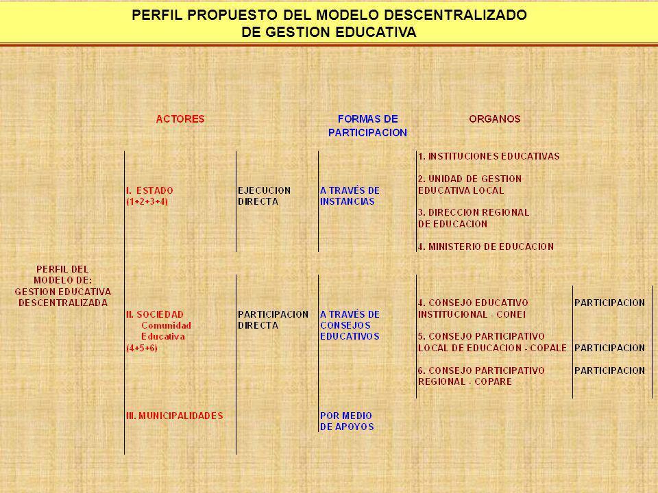 PERFIL PROPUESTO DEL MODELO DESCENTRALIZADO