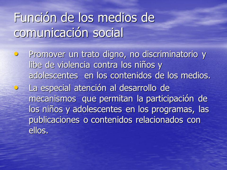 Función de los medios de comunicación social