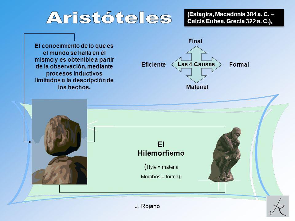 Aristóteles El Hilemorfismo (Hyle = materia