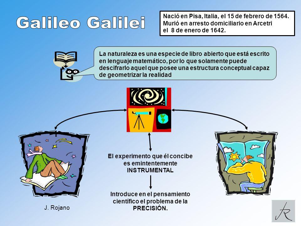Galileo Galilei 1 Nació en Pisa, Italia, el 15 de febrero de 1564.
