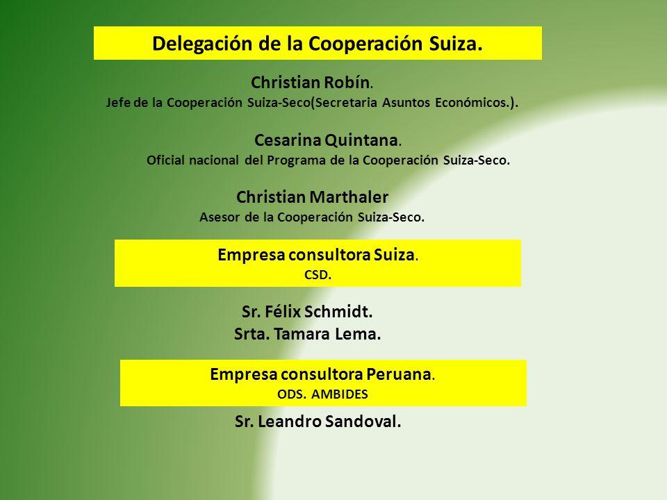 Delegación de la Cooperación Suiza.