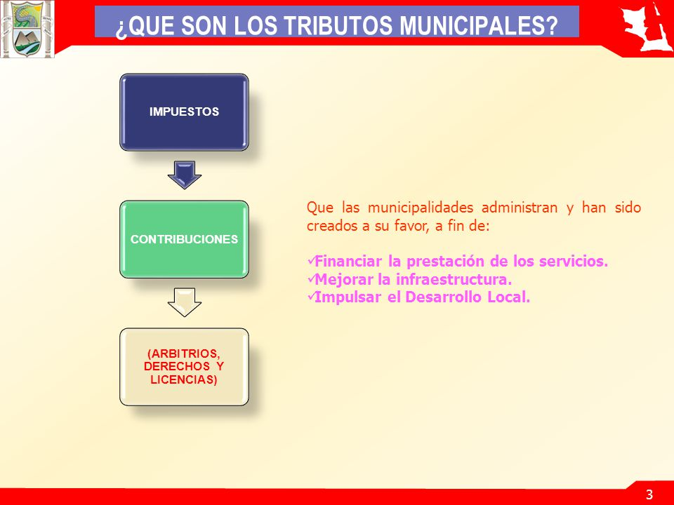 ¿QUE SON LOS TRIBUTOS MUNICIPALES