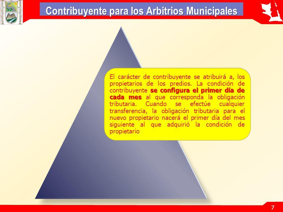 Contribuyente para los Arbitrios Municipales