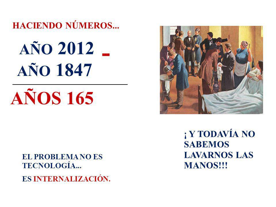 - AÑOS 165 AÑO 2012 AÑO 1847 HACIENDO NÚMEROS...