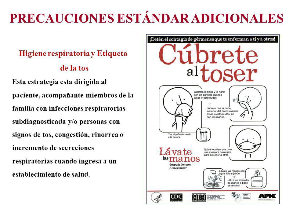 PRECAUCIONES ESTÁNDAR ADICIONALES Higiene respiratoria y Etiqueta