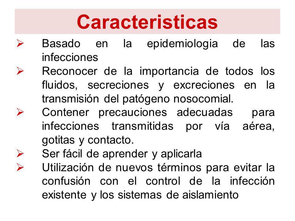 Caracteristicas Basado en la epidemiologia de las infecciones