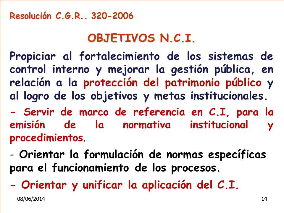 - Orientar y unificar la aplicación del C.I.